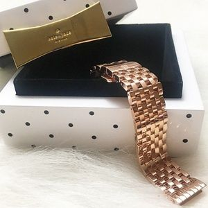 Michele Deco II 16mm Rose Gold Bracelet Watch Band